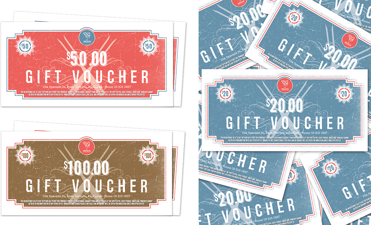 Spotted Pig Gift Vouchers
